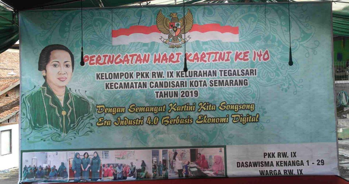 Susunan Acara Peringatan Hari Kartini Tahun 2019 oleh PKK RW.IX Kelurahan Tegalsari Kota Semarang