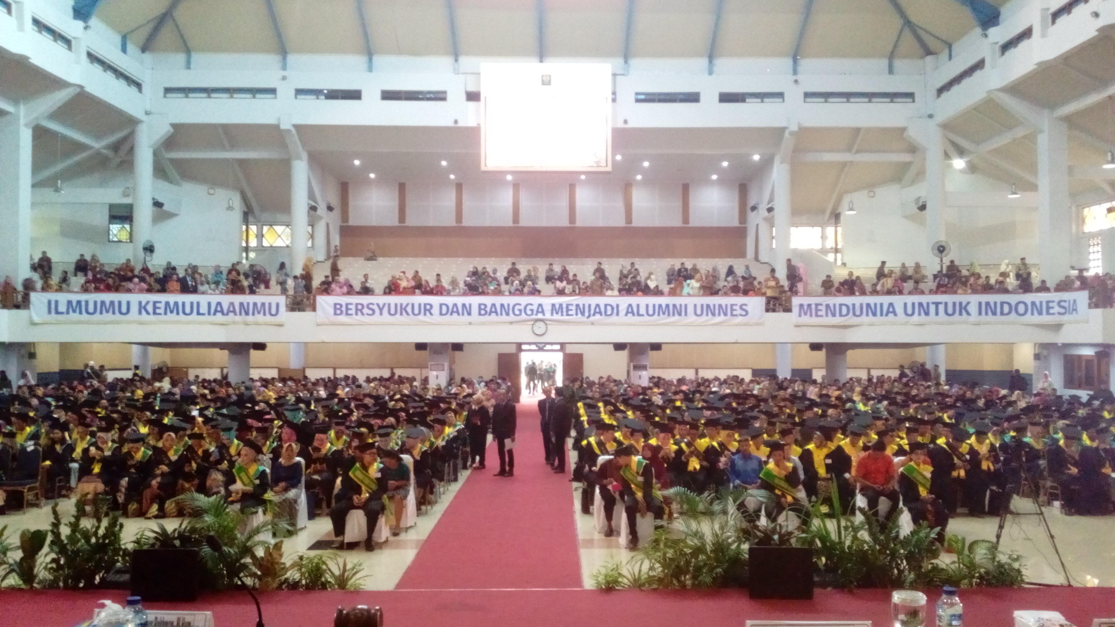 Ilmumu Kemuliaanmu, Mendunia untuk Indonesia, Tema  Wisuda Periode II 2019 UNNES